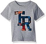 True Religion Little Boys' Branded Logo Tee Shirt, Heather Grey, 5