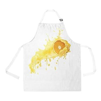QUICKMUGS2U Delicioso Delicioso Delicioso diseño de Naranja con 2 Bolsillos con Correa Ajustable para cocinar, Barbacoa, Hornear, Chef, Hombres, ...