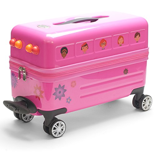 Travel Buddies Ride-On Pink Flower Bus Review