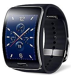 Samsung Galaxy Gear S R750W Smart Watch w/ Curved Super AMOLED Display (Black) - International Version No Warranty