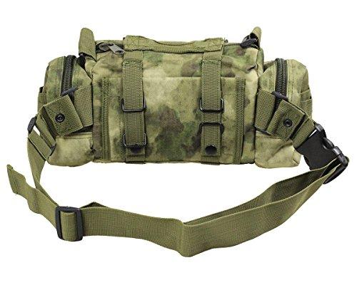 CS Force Tactical Deployment Bag Modular MOLLE 3 Ways Handbag Waist Pouch Utility Carry Bag with Shoulder Strap A-TACS FG