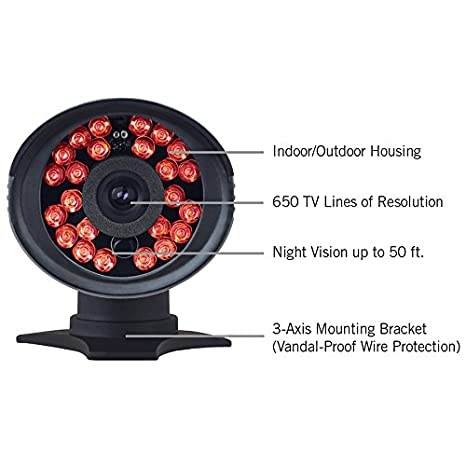 Amazon.com : Night Owl Security CAM-2PK-650 Indoor/Outdoor 650 TVL Security Bullet Camera, 2 Pack (Black) : Camera & Photo