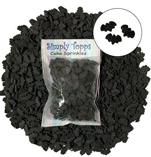 Black Bat Halloween Sugar Cake Sprinkles 25g for cake Cupcake Decorations Simply Topps Ltd