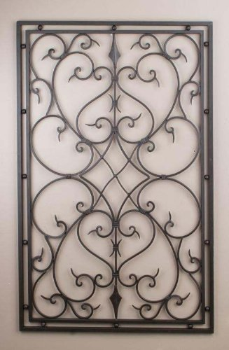 Great Wrought Iron 30u0026quot;x48u0026quot; Rectangle Wall Decor Grille