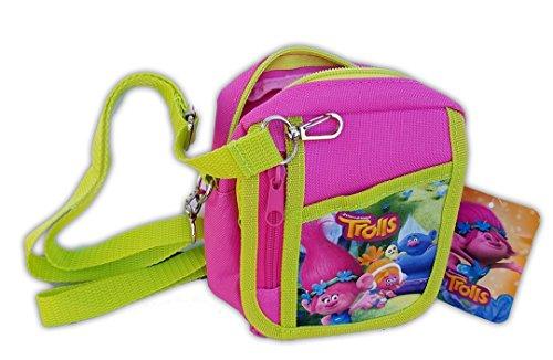 Trolls Poppy Hot Pink Camera Pouch Bag Wallet Purse Shoulder Strap. Size: 7