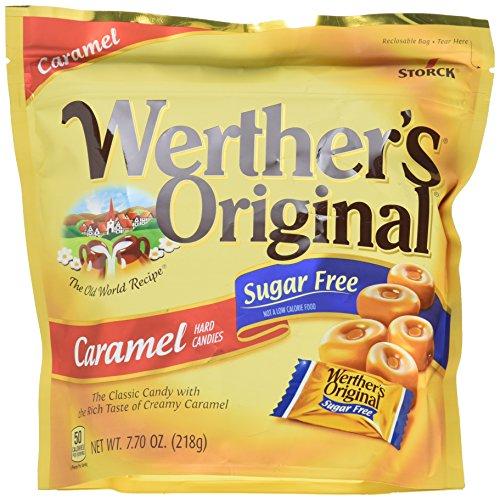 Hard Caramel Candy (Werther's Original Hard Candies, Sugar Free Caramel, 7.7 Ounce)