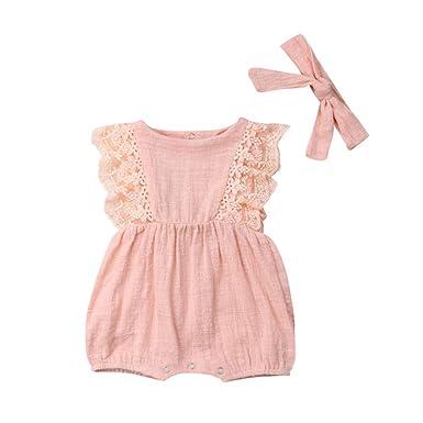 Wang-RX Verano recién Nacido Infantil bebés niñas Ropa de ...