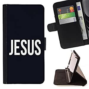 Momo Phone Case / Flip Funda de Cuero Case Cover - BIBLIA Jesús; - Samsung Galaxy J3 GSM-J300