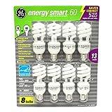 GE 13-Watt Energy SmartTM - 8 Pack - 60 watt replacement 2 Pack