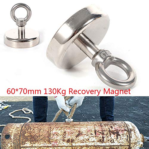 TFCFL 286 LB Pull Super Strong Rare Earth Round Neodymium River Fishing Magnet Eyebolt Magnets Fasteners Hardware from TFCFL