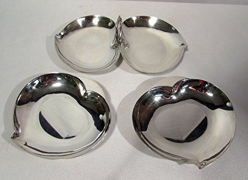 Three Crowns Silversmiths Silverplate Heart Shaped 3 Pc Mint Dish Set - Silverplate Mint