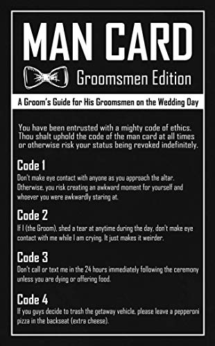 Groomsmen Gifts – The Man Card – Groomsmen Proposal or Groomsman Gifts for Wedding Day (10 Pack)