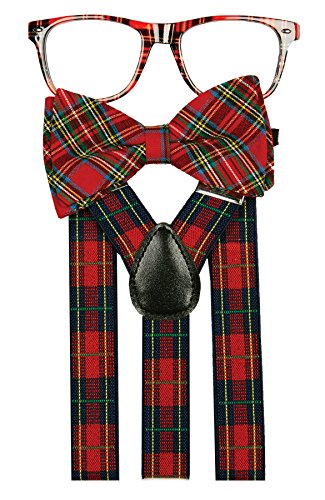 NERD KIT PLAID - Glasses Bow With Nerd