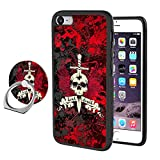 Black Hard PC+TPU Skull with Sword in Head iPhone 7 Plus 8 Plus Case with Ring Holder Stand Multi-Function 360 Degree Rotating Design Pattern Hybrid Drop Protective phone Case For iPhone 7 Plus 8 Plus