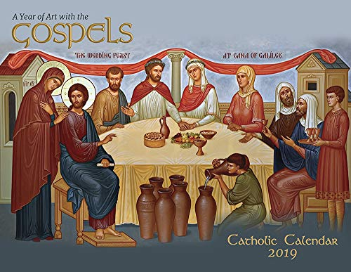 - Catholic Religious Liturgical Wall Calendar 2019: A Year of Art with The Gospels Mount Tabor Studios Icons Monthly 11
