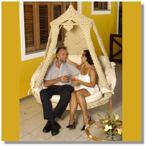 Hängestuhl NIDO Royal Sisal incl. Kissen Taupe natur