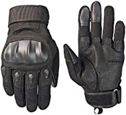 Screen Touch Military Rubber Guard Full Finger Gloves for Cycling Motorbike