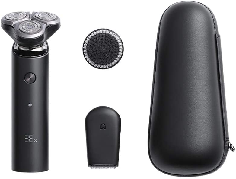 gooplayer para 2020 Xiaomi Mijia Electric Shaver S500C Flex Razor Head 3 Afeitado en seco y húmedo Lavable Main-Sub Dual Blade Turbo + Mode Comfy Clean