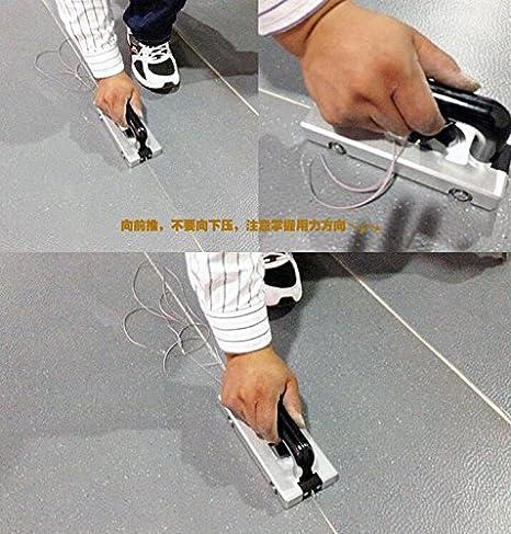 Ruedas Super Ranuradora girotrón asignación tirón herramienta de mano Slotter soldadura PVC para suelo: Amazon.es: Bricolaje y herramientas