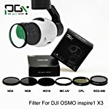 Lens Filter for DJI OSMO X3 inspire1 Professional Advanced gimbal Camera ND2-400 ND4 ND8 ND16 CPL MC-UV drone parts accessories