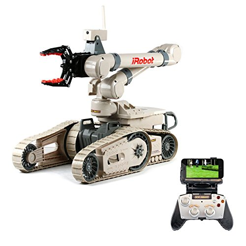 New Bright R/C Multi-Function iRobot 710 Kobra Toy Includes 12.8V Power Pack Batteries & Charger (1:3 Scale), Beige