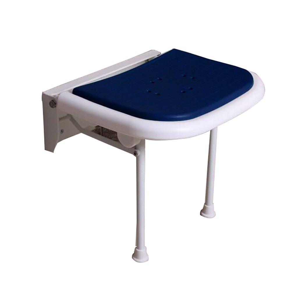 XUEPING バスルームバススツール折りたたみシャワー壁スツールウォールスツール障害シートスツール交換バスルームアームレストスツールブルーレッグス B07D7L6QFG