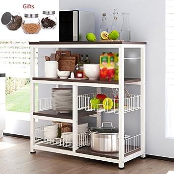 Muebles de cocina Estantes de cocina de gran capacidad Estante de ...