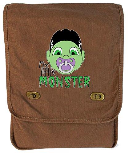 Monster Carrying Man Costume (Tenacitee Little Monster Frankenbride Java Canvas Field Bag)