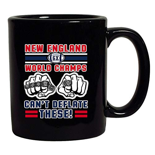World Champs Can't Deflate These Football Sports Black Coffee Mug (Black, 11 oz)