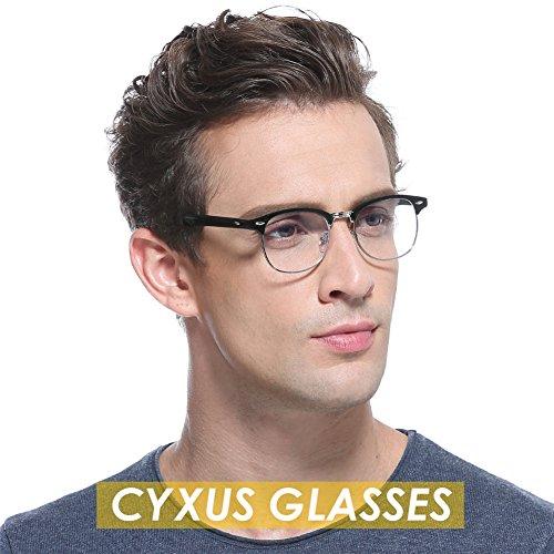 Cyxus Blue Light Blocking [Semi-Rimless] Computer Glasses, Anti UV Eye Strain Clear Lens Reading Video Eyewear, Men/Women by Cyxus (Image #3)