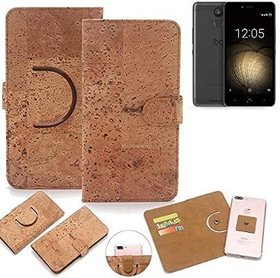 K-S-Trade 360° Funda Smartphone Caso de Corcho Cubierta del tirón ...