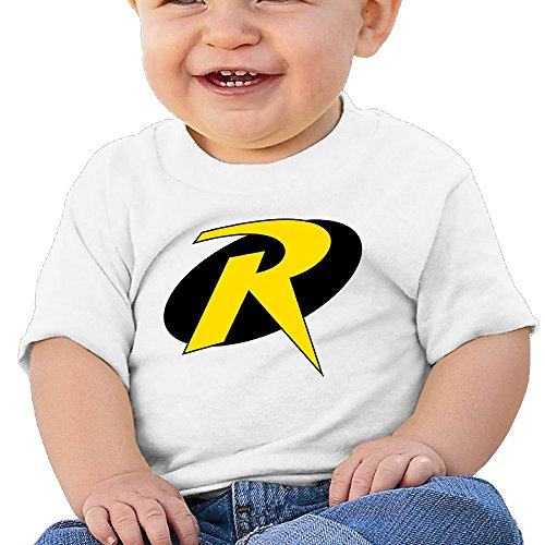 HZERUI Infants &Toddlers Baby's Teen Titans Go Robin Logo T-Shirt White 18 Months For 6-24 Months. (Robin Custome)