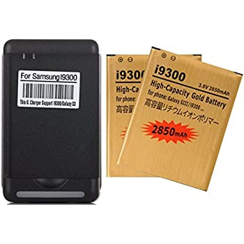 Amazon.com: 2 pcs. 2450mAh Baterías de Remplazo de Alta ...