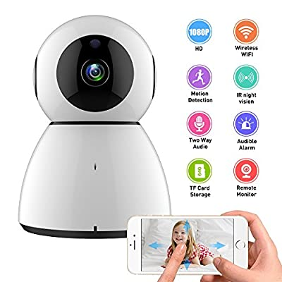 WiFi IP Camera,COOFO 1080P HD Wireless Security Camera Pan/Tilt/Zoom Fuction,Support Cloud Storage Baby Monitor Home Surveillance Camera with Motion Sounds Detection,2 Way Audio,Night Vision