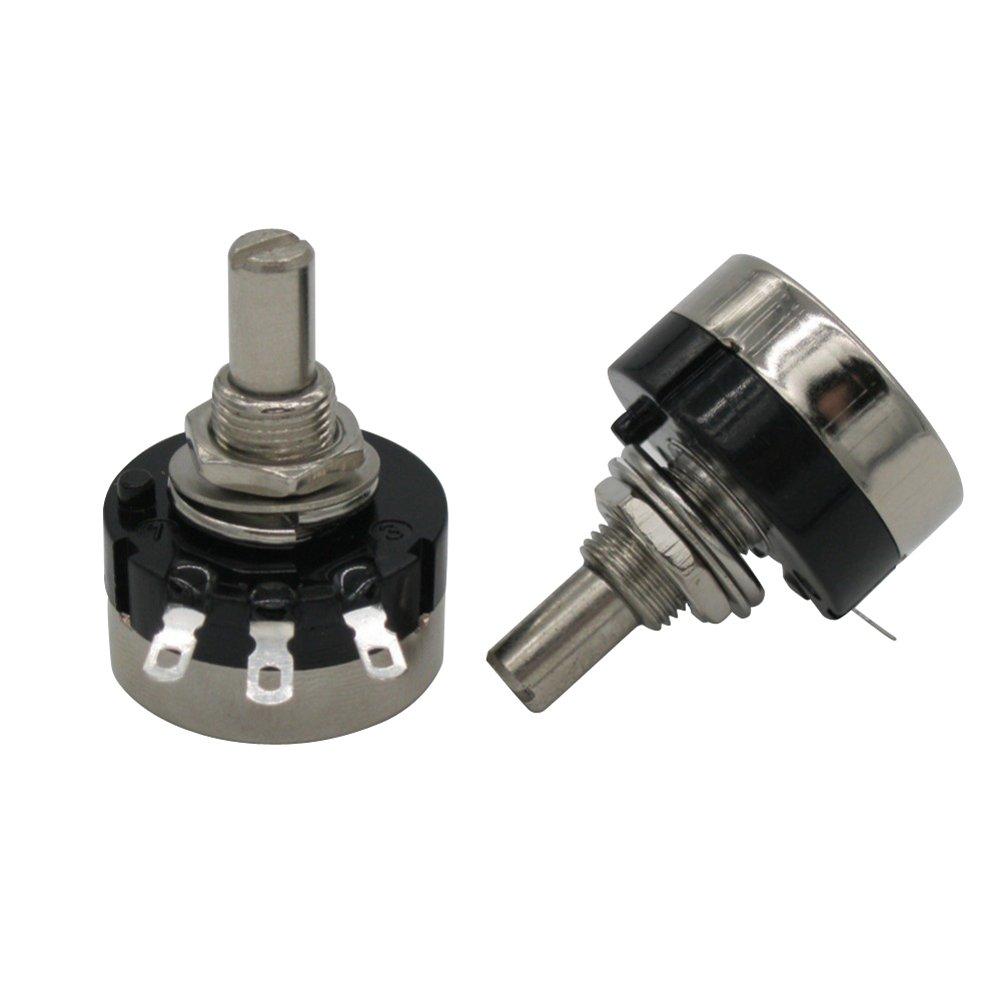 Taiss 2pcs RV24YN20S B502 5K ohm Carbon film potentiometer single-turn potentiometer + 2pcs A03 knob by Taiss (Image #4)