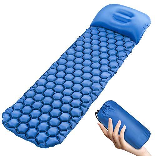 Colchoneta inflable para dormir, ultraligera, para acampada, con ...