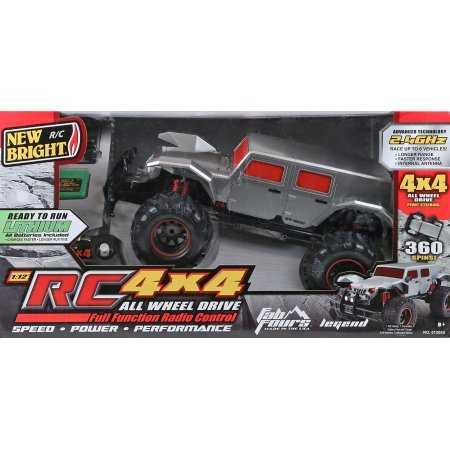 New Bright Silver 1:10 Scale R/C Fab Fours Legends Radio Control Truck