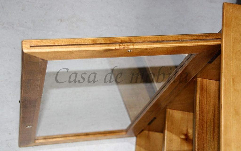 Casa Massivholz H/ängevitrine Pappel Honig Badschrank Badvitrine H/ängeschrank