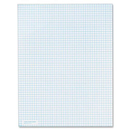 TOPS Quadrille Pad, Gum-Top, 8-1/2 x 11 Inches, Quad Rule , White Paper, 50 Sheets per Pad (33051)