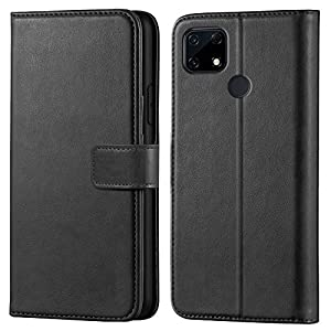 Asgeot Leather flip Case Compatible with Realme Narzo 30A | Inside TPU with Card Pockets | Wallet Stand | Magnetic…