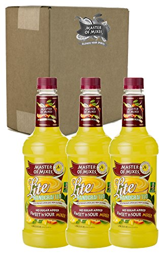 Master of Mixes Sweet N' Sour Lite Drink Mix, Ready To Use, 1 Liter Bottle (33.8 Fl Oz), Pack of 3 -
