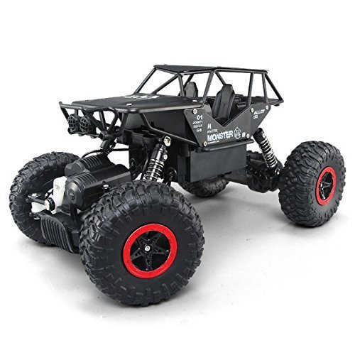 1/18 Alloy RC Cars with two batteries Remote Control Truck 4x4 Off Road Rock Crawler for Boys 2.4GHz Radio Controlled Monster for kids