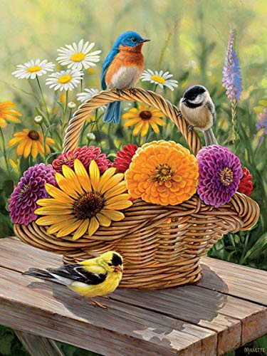 Cobblehill 58886 Tray 35 Bluebird and Bouquet Puzzle, Various