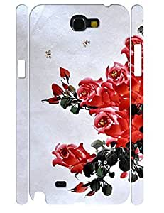 3D Print Hipster Rose Bloom Flower Design Tough Phone Drop Protection Case for Samsung Galaxy Note 2 N7100