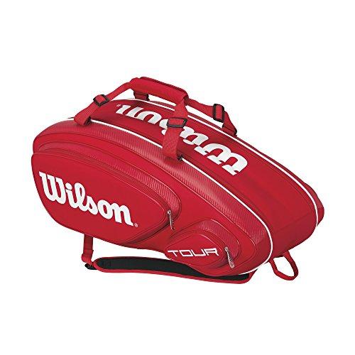 Wilson Erwachsene Sportsack Tour V 15 BK, Rot, 76 x 30.5 x 33 cm, 76 Liter, 0887768377533