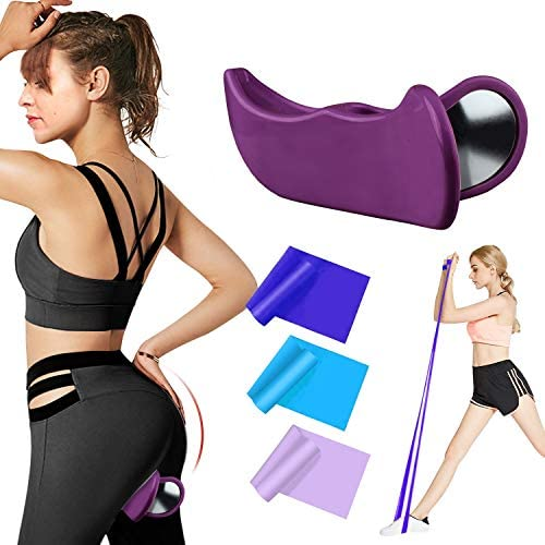 RIFFUE Kegel Exerciser Pelvic Floor Muscle and Inner Thigh Exerciser, Hip Trainer Shaping Beautiful Buttocks Using in Postpartum Rehabilitation, Fitness and so forth (Purple)