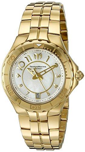Technomarine Women's TM-715009 Sea Pearl Analog Display Swiss Quartz Gold Watch