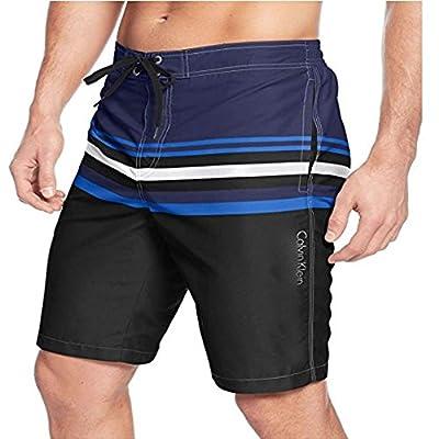 Calvin Klein Gradual Striped E-Board Swim Trunks Men's Wear Large