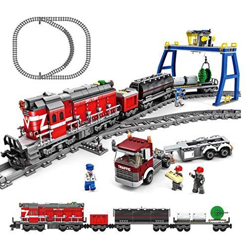 (Siyushop Creative Building Brick Box, Game Set, Fun Classic Games, Urban High-Speed Rail Steam Train Model,4 People,Train, Total 1002 Bricks (Fun Game Set))