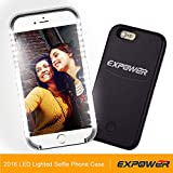 Expower Dimmable Led Case Selfie Light Case with 3 Forward Facing Flashing Modes for iphone 6/iphone 6 Plus, Perfect for Night Selfie, Facetime and Party